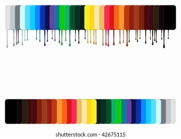 Standards of color in a vector on a white background