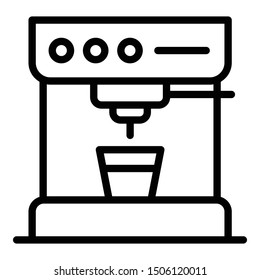 Standart coffee machine icon. Outline standart coffee machine vector icon for web design isolated on white background