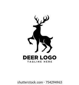 Standing Elegant deer logo