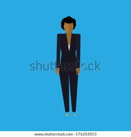 Standing Full Height Vector Business Woman Stock Vector Royalty