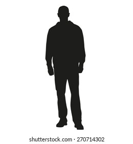 Standing man vector silhouette