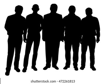 standing men silhouette vector