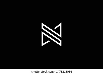 standing professional elegant trendy awesome artistic black and white color ZS SZ initial based Alphabet icon logo.