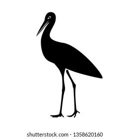 Standing stork icon