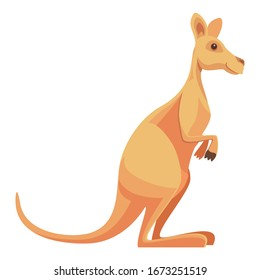 Standing Wild Kangaroo Animal Vector