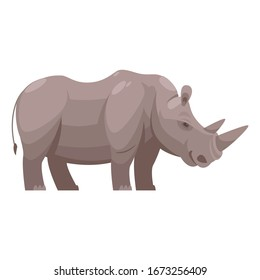 Standing Wild Rhino Animal Vector