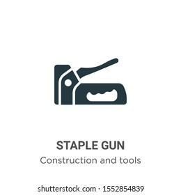Staple gun vector icon on white background. Flat vector staple gun icon symbol sign from modern construction and tools collection for mobile concept and web apps design.
