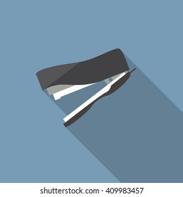 stapler icon. Flat design style modern vector illustration. Isolated on stylish color background. Flat long shadow icon. Elements in flat design.