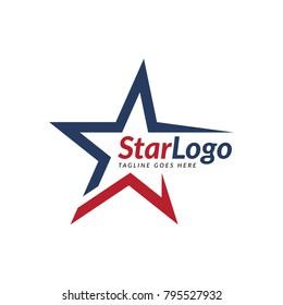 star abstract logo icon vector template