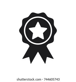 star award vector icon, illustration of award icon