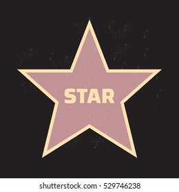 Star award vector illustration for famous people