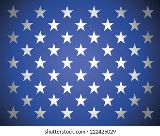 Star background in american's flag colors