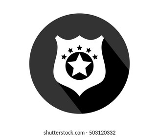 star badge business company office corporate image vector icon logo