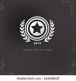 Star badge symbol,vector