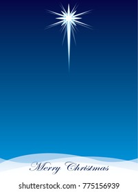 Star of Bethlehem Background with Merry Christmas