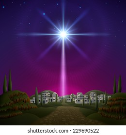 Star of Bethlehem. EPS 10, contains transparency.