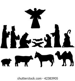 Star of Bethlehem. Nativity vector illustration silhouette