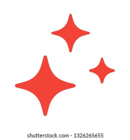 star blink icon vector,red star,blink icon