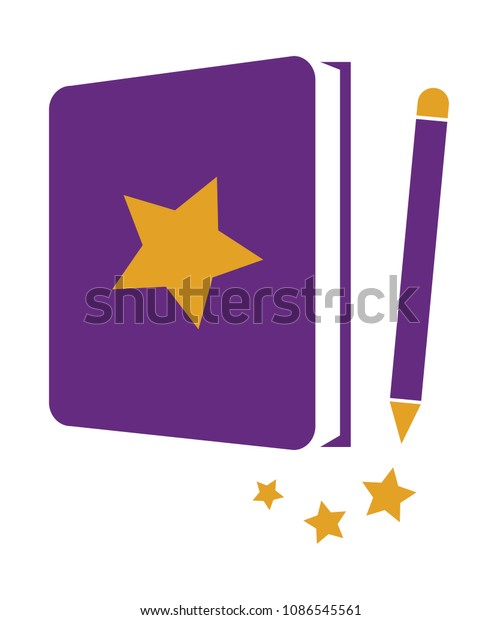 Star Book with Pencil