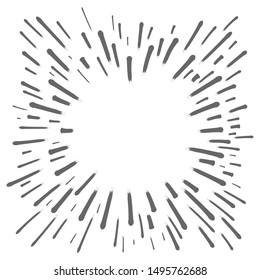 Star burst doodle, hand drawn explosion frame