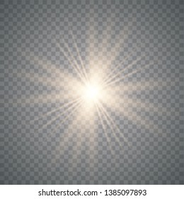 Star burst with. Glow light effect with rays and shine particles. vector illustration eps 10.