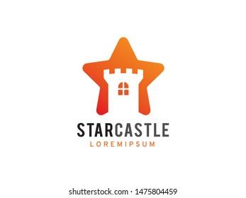 Star Castle logo symbol or icon template
