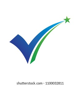 Star Check Mark and Vote Logo Vector