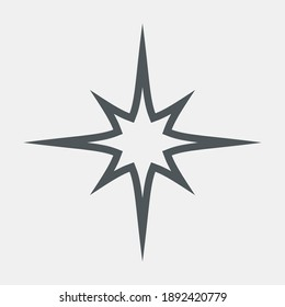 Star Classic rating icon web quality vector illustration cut