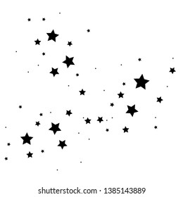 Star cluster, constellation abstraction, comet star dust, stargazing comics, vector illustration