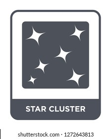 star cluster icon vector on white background, star cluster trendy filled icons from Astronomy collection, star cluster simple element illustration