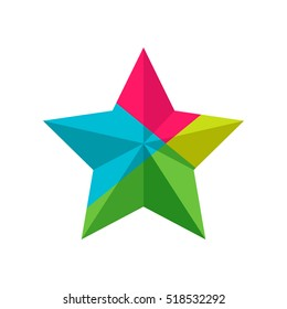 Star. Color vector icons.