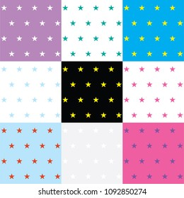 Star colorful background