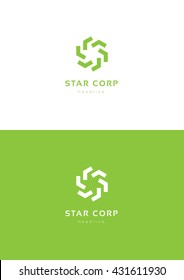 Star corporation logo template.