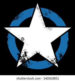 Star crossing blue ring