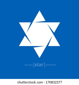 The Star of David abstract vector design element