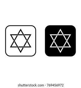 Star of David icon set