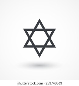 Star of David icon | sing | symbol. Flat design style