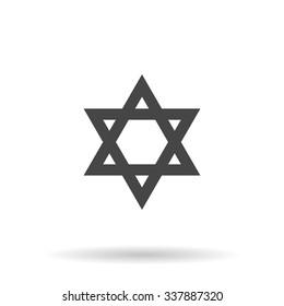 Star of David. Icon Vector