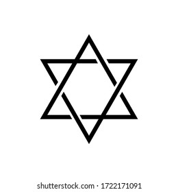 Star of david icon vector on white background