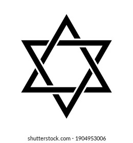 The Star of David. Isolated Vector Illustration