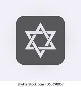 Star of David. Jewish religion symbol. Vector illustration
