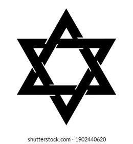 Star of David logo Concept creative symbol Star icon vector illustration