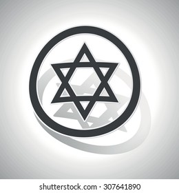 Star of David sign sticker, curved, with outlining and shadow