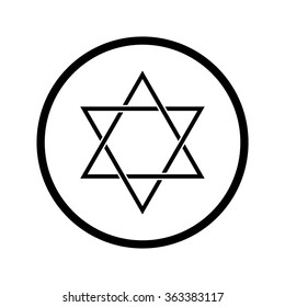 Star of David. Symbol of Judaism
