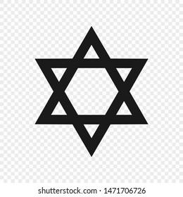 Star of David - symbol of judaism. Vector illustration