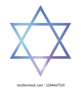 Star of David, Vector Icon, Color Blue, Art Illustration