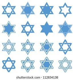 Star of David. Vector illustration.