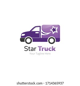 Star Delivery Truck Logo Design