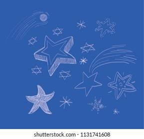 star doodle blue