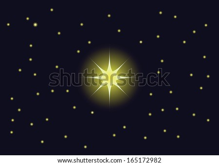 different stars in the sky